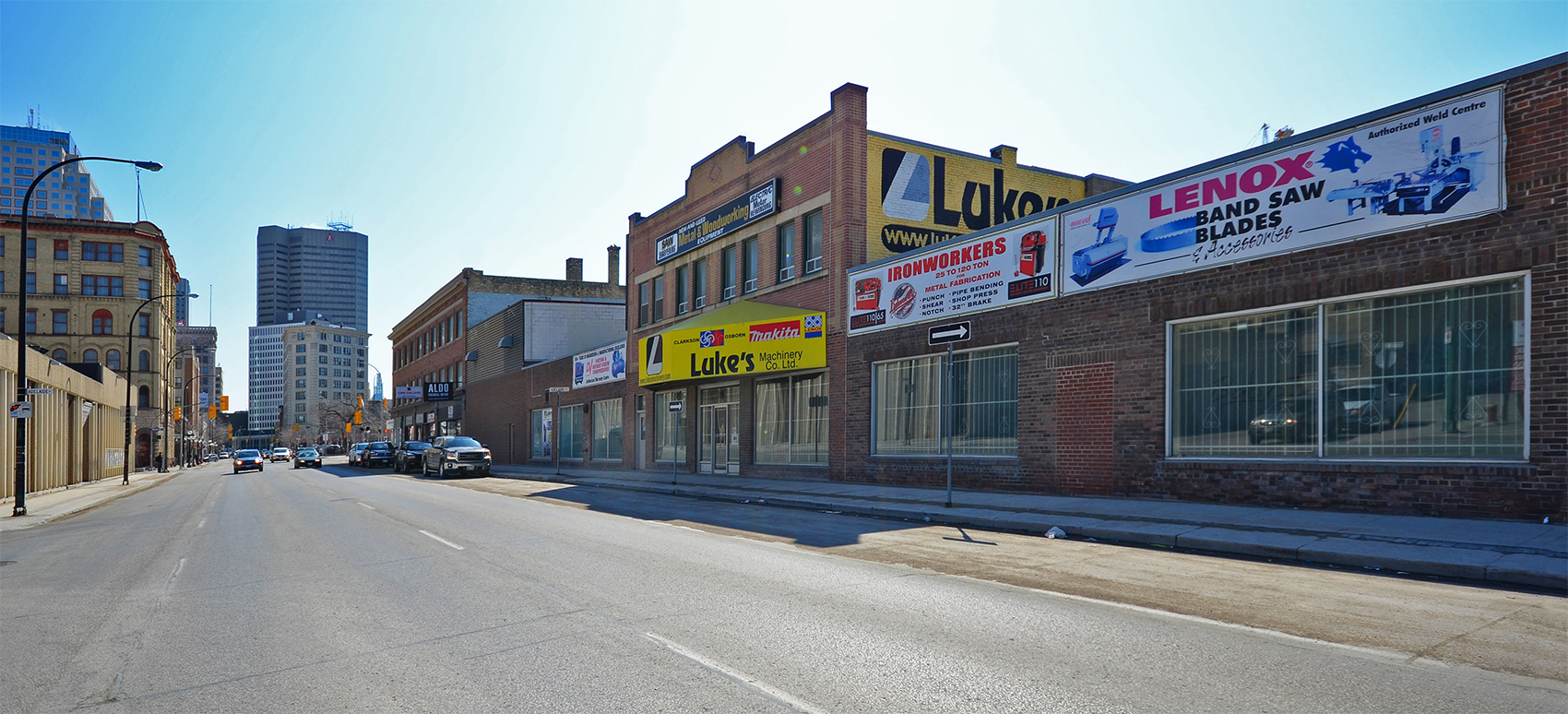 Luke's Machinery Co. an icon on Winnipeg's Main Street strip and a project of Number TEN's architects.