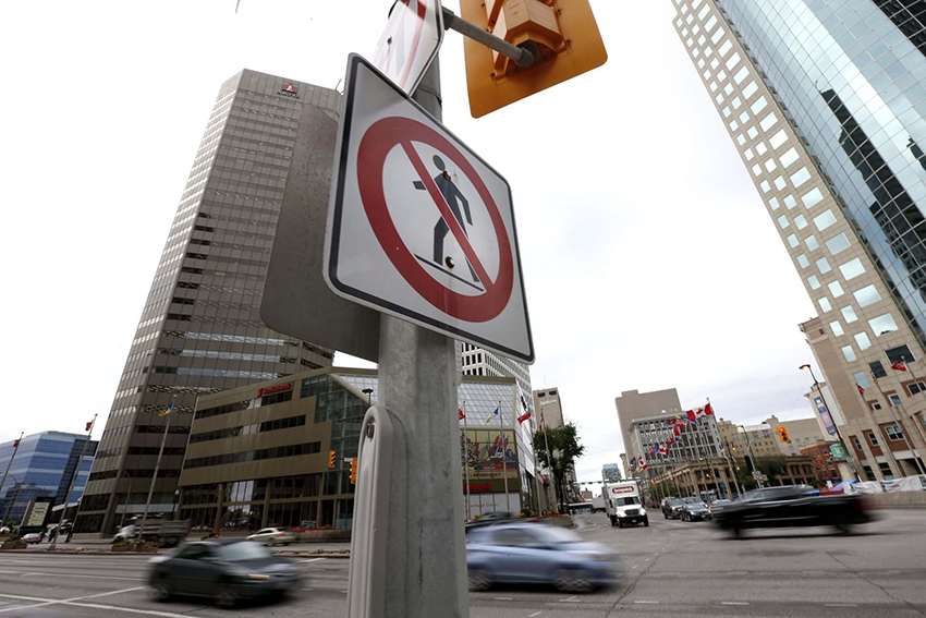 Portage and Main - a busy intersection with lots of opportunity for architects to work.