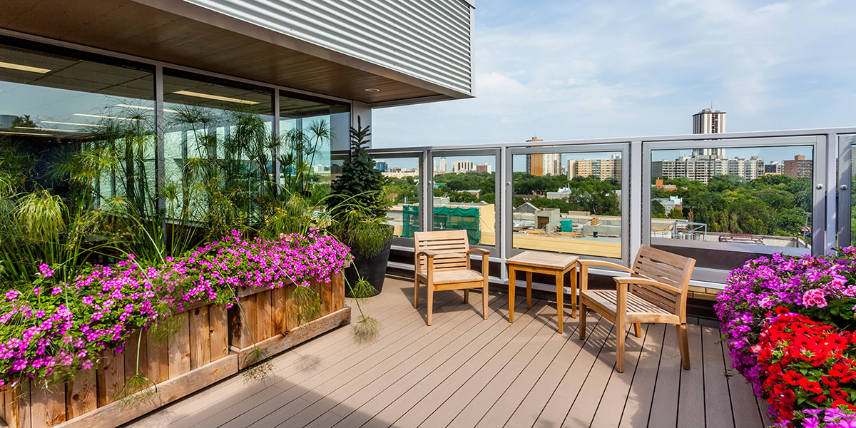 Great West Life Rooftop Garden at Misericordia Health Centre